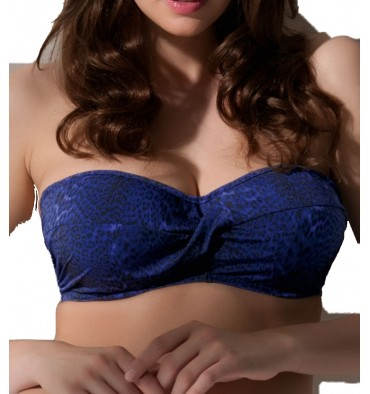 Fantasie L A Womens Underwire Bandeau Bikini Top Persian Blue
